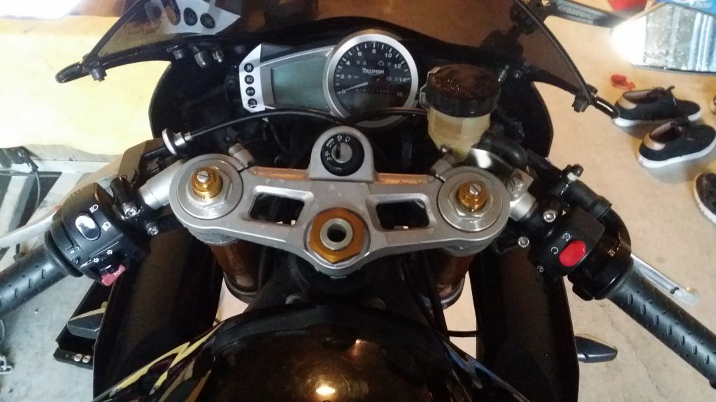 Is your front wheel out of alignment? Are your handlebars