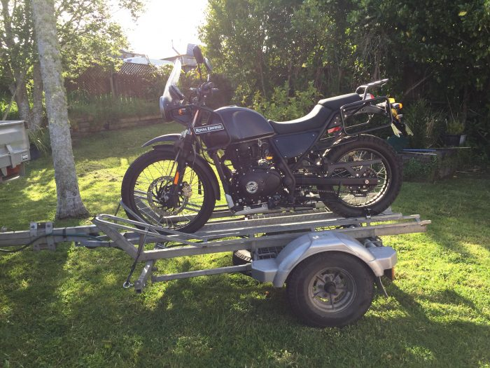 Riders Corner Trailer towing Royal Enfield Himalayan
