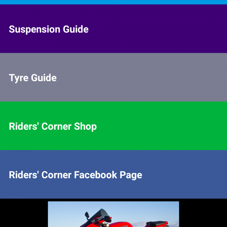 riders corner pocketbook home page
